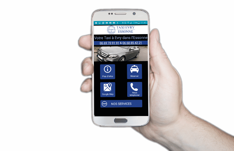 Application taxi Evry pour Android